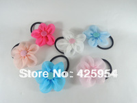 New Promotions  Sunflower  Button  Hair rope Princess Hair circle  Multicolor Mixed   20pcs/lot  Free shipping