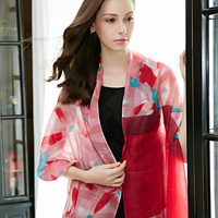 Long design cashmere scarf female cape