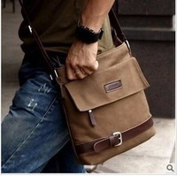 2013 bag casual bag shoulder bag canvas bag male strap messenger bag