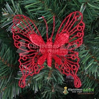 Christmas tree decoration 2013 gold silver red glitter butterfly Christmas 12g