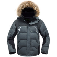 2013 New Parkas Winter Outdoor Down Jacket Men  Swandown filling thickening cold-proof down coat male fur hood