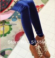 High quality south Korean import fashion corduroy and velvet pleuche  thin leggings
