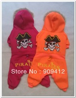 Fashion Orange Pirates Four Legs Dog Suit Pet Winter Clothing Teddy Clothes Top Quality