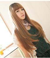 Qi Liu linen yellow tail slightly curled hair long curly hair wig anime wig long curly hair COS