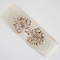 Fashion cutout 199 gold buckle cummerbund tiebelt women's all-match elastic waist belt wide cummerbund female