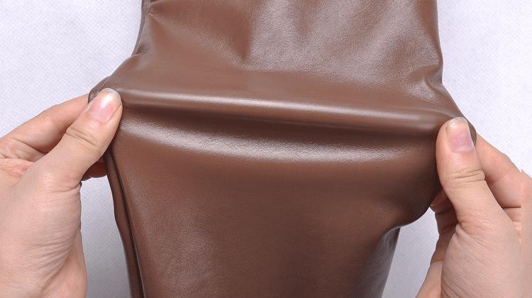новые женщины зимой сексуальные кожаные штаны брюки карандаш сгустить плюс кожа pu хлопок Брюки женские тонкие тонкие кожаные леггинсы