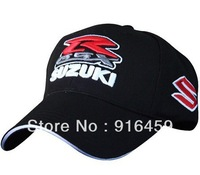 Free shiping Wholesale 2013 new Suzuki black  F1 racing car team embroidery Cotton sports baseball hat cap