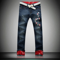 plus size jeans 36 - 46 autumn and winter jeans men 3013 new arrival fashion design casual jeans for men casual trouseres jeans