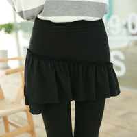 2013 wool cashmere irregular ruffle hem false second pieces culottes fashion legging