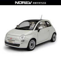 Norev Model Car 1:18 Scale Fiat 500 artificial alloy car model white