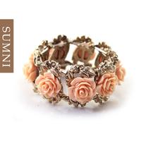 Free Shipping Mini fashion flower elastic bracelet charm fresh sweet gift free shipping
