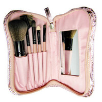 5 piece set cosmetic brush tool bag tape mirror brush large make-up professional brush set bucket
