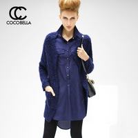 2013 Hitz European and American Fan Canglan long section of women's knit cardigan sweater ST20