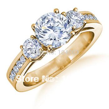 Jewellery Brand white sapphire lady's 10KT yellow Gold Ring sz6/7/8/9/10 Z021