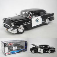 New century BUICK 1955 alloy car model gift webworm 1:24 Maisto Black Free Shipping Christmas Present