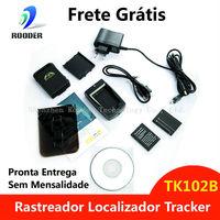 Pronta Entrega Rastreador Localizador Mini Tracker E Escuta TK102B GPS GSM SMS Pessoal Veicular Moto Bike Sem Mensalidade