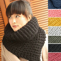2013 Hot style Thickening knitted solid color personalized triangle thermal yarn scarf muffler female winter