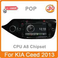 "7"" Pure Android 2.3 OS Car DVD GPS for Kia Ceed 2013 2012 , S150 A8 Dual Core 1GB CPU 512MB DDR V-20 2-ZONE Multimedia Stereo"