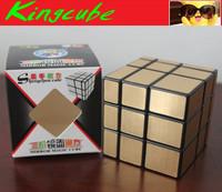 Shengshou Mirror Cube Golden  Black speed cube