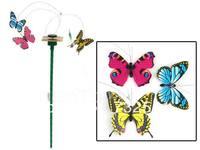 New Solar Powered Flying Color Butterfly 3 PCS/Set Butterflies Garden Yard Decor