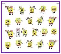 50 PCS / LOT Nail Art Water Transfers Stickers Nail Decals Stickers Water Decal SpongeBob SquarePants