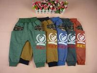 Retail snow flower autumn winter warm trousers Children's leisure casual pants 2014 KP061R