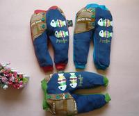 Retail cotton fleece fish winter autumn boys girls trousers Children's leisure casual pants 2014 KP063R