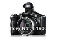 16Mega Pixel 14Mp CMOS Sensor DSLR Type Digital Camera with 21x Inteligent Zoom and 3 inch Big Screen Free Shipping