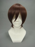Costume Party Heat Resistant Synthetic Fibre Hair SEED-Kira.Yamato Brownish Red Short Cosplay Wig