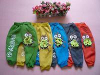 retail lady bug cute kids pant autumn winter warm trousers Children's leisure casual pants 2014 KP068R