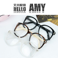 Acacia british style fashion vintage glasses plain mirror big box eyeglasses frame