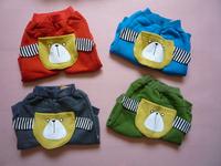 cute dog girls kids pant autumn winter warm trousers Children's leisure casual pants 2014 KP066R