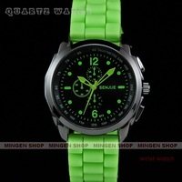 Senjue New Energy Green Men Lady Silicone Band Sport Quartz Watch Q190