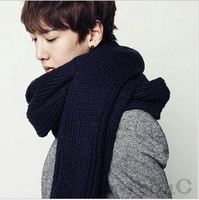 Hot-selling 2012 male autumn and winter fashion solid color lovers yarn scarf male scarf
