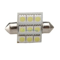 Car White 5050 SMD 9 LED Lights Bulb Lamps Dome Festoon 36mm New S7NF