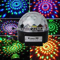 Free Shipping Wholesale Led Stage Light 6w MP3 Digital LED RGB Crystal Magic Ball Effect Light DMX Disco DJ Stage Lighting