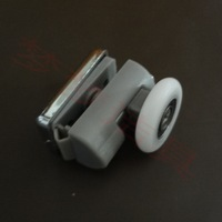 Shower room accessories wheels roller hanging round bathroom shower pulley old fashioned pulley sliding door