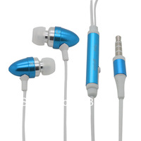 1pc with retail package In-Ear Earphone with mic mobile phone headset for samsung for iphone5 4s 4 headphone earpods