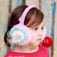 free shipping wholesale   girls' earmuffs children earmuffs Lace style 2013 the newest fashion artificial wool