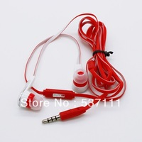 1pc Hi-Fi Super bass STREET Noodles Wired In-Ear Earphone with mic mobile phone headset for iphone headphone earpods