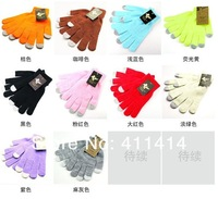 FEDEX Freeshipping Knit Wool Touch Gloves for iPhone 5 5G 4 4S Touch Screen Gloves for iPad 1 2 3 4 Mini, 1800pcs(900pairs)/lot