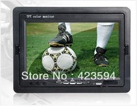 "Worldwide Free Shipping HFK-701B 7"" TFT High Definition Two-way AV Video Input Car Monitor (Black)"