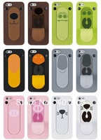 Hot sale!! Colorful Snap Stand Coat FaaGaa Animal Outcry Tongue Kickstand Case For iPhone 4S/5 Free shipping!!!
