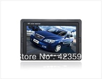 "Free Shipping Worldwide Free Shipping 7"" HD TFT LCD Screen Color Remote Control Monitor (Black)"