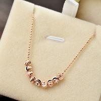 Irregular transfer bead necklace female short pendant jewelry pendant honey white collar chain