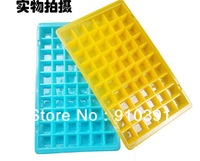 Free Ship 60 grids DIY color Freeze ice cube tray,ice lattice maker relieve summer heat cooler tool as kitchen fridge product.