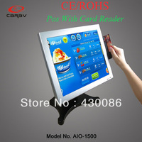 17'' All-in-one Pos System With 3 track Magnetic Stripe Reader