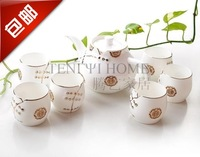 7 6 guzhici goldenbarr tang suit tea set bone china set quality gift