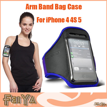 Universal Running Sports Armband Mobile Phone Bag Case Arm Band Waterproof Armband Case for iPhone 4 4S iPhone 5 Free Shipping