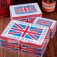 Free Shipping!England Style 3pcs/set big size metal tin case sweety candy can cookie box Multi-Use Storage container Iron Case